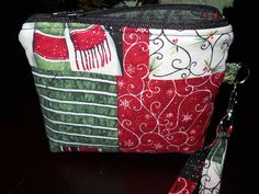 Holiday wristlet by SewLeighMyOwn, $15.00