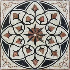 Floral-Marble-Mosaic-Art-Tile-Deco-Floor-Wall-or-Tabletop-Florentina