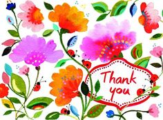 Let the exuberant floral art of Kim Parker accompany your words of appreciation. There's nothing like a handwritten thank you card, especially when they're as l