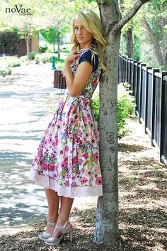 Hey, never thought to add lace trim to make a dress or skirt longer! Good idea!