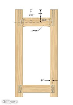 Figure C shows the front view of the Charles Rennie Mackintosh end table plans. - Simple Rennie Mackintosh End Table Plans: http://www.familyhandyman.com/woodworking/projects/simple-rennie-mackintosh-end-table-plans/view-all