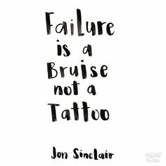 It took me a minute to figure out what this means then I realized it meant that  failure doesn't stay with you your whole entire life.