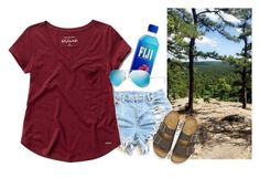 """""""Went on a hike today❤️"""" by chandler-rian ❤ liked on Polyvore featuring Abercrombie & Fitch, Birkenstock and Ray-Ban"""