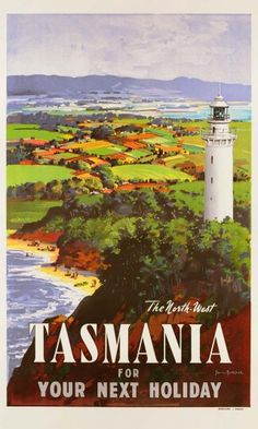 Tasmania, The North West. For Your Next Holiday. Vintage Travel poster by James Northfield Retro Poster, Poster S, Poster Prints, 1950s Posters, Art Prints, Brisbane, Melbourne, Sydney, Posters Australia