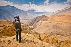 The magnificant valley of Manang and Mustang, which resembles that of the wild wild West.