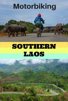 A guide to riding your motorbike in Southern Laos. This post is all the information you need, from road conditions, distances, petrol station locations to where to stay at night. If you want some adventure in Southeast Asia then here we are. We loved motorbiking in Southeast Asia. #laos #motorbiking #adventure #southeastasia