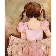 Dress up a bare wall with the Sweet Ballerina - Brunette Canvas Wall Art from Oopsy Daisy. Your tiny dancer will love having this adorable canvas hanging in her room! Painting Frames, Painting Prints, Art Prints, Paintings, Texture Painting, Art Wall Kids, Art For Kids, Art Children, Ballerina Room
