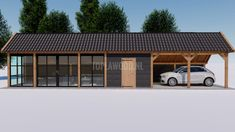 Swimming Pool Enclosures, Carport Garage, Backyard Studio, Garage Interior, Driveway Landscaping, Garden Office, Pergola Designs, Cabins In The Woods, House Floor Plans
