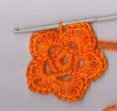 How To Crochet A Flower   HOW TO – Crochet a five petal flower