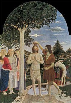 Baptism of Christ, 1450Piero della Francesca