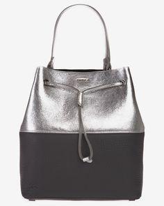 Geanta rucsac piele argintiu cu negru Furla Furla, Metal, Bags, Purses, Taschen, Totes, Hand Bags, Bag, Handbags
