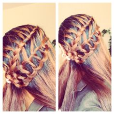 feather chain french braid