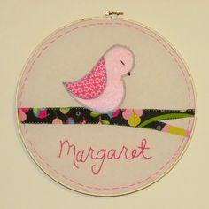 Nursey Embroidery Hoop Art by ApplesauceLLC on Etsy