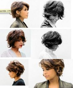 wanna give your hair a new look? Curly bob hairstyles is a good choice for you. Here you will find some super sexy Curly bob hairstyles, Find the best one for you, Short Curly Hair, Short Hair Cuts, Curly Hair Styles, Curly Bob Bangs, Curly Lob Haircut, Haircut Short, Curly Haircuts, Pixie Cuts, Thick Hair