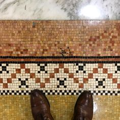 Found this dapper original mosaic tile in the historic Fisher Building City Apartments downtown How charming! City Apartments, Unique Flooring, Flooring Ideas, Basement Flooring, Own Home, Mosaic Tiles, Dapper, Diy Furniture