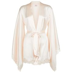 Agent Provocateur Abbey Kimono ($860) ❤ liked on Polyvore featuring intimates, robes, lingerie, satin robe, agent provocateur lingerie, agent provocateur, shrug cardigan and satin kimono