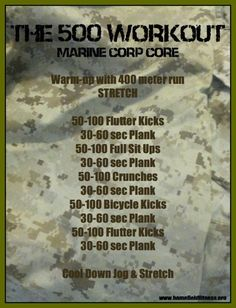Marine Corps 500 Work out | Posted By: AdvancedWeightLossTips.com