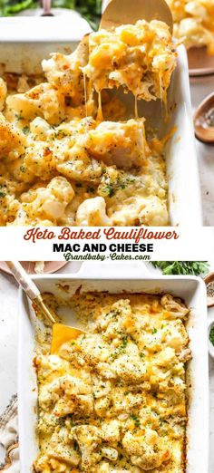 Perfectly rich, creamy and cheesy keto friendly Macaroni and Cheese made with Cauliflower! Get all of the decadence without the carbs and pasta! #macaroni #macandcheese #cheese #keto #cauliflowermacandcheese #cauliflower Yummy Pasta Recipes, Best Dinner Recipes, Side Dish Recipes, Great Recipes, Vegetarian Recipes, Lunch Recipes, Healthy Recipes, Keto Recipes, Cheesy Recipes