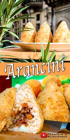 Sicilian Arancini – fantastic 'street food – a delicious rice ball stuffed with many different fillings. In Steves Kitchen today I will fill my Arancini with ragu, peas and mozzarella and then deep fry them. HOW TO MAKE SICILIAN ARANCINI How to make Sicilian Arancini Prep Time: 30 minutes Cook Time: 30 minutes Fry Time: 3-5 … Italian Rice, Italian Dishes, Italian Recipes, Italian Foods, Veggie Recipes, Beef Recipes, Cooking Recipes, Cheese Recipes, Rice Recipes