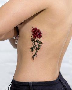 Robson Carvalho Turns His Beautiful Drawings Into Magical Tattoos cool illustrative rose tattoo © tattoo artist Robson Carvalho ❤? Tattoos Motive, Body Art Tattoos, New Tattoos, Tatoos, Flower Tattoo Designs, Tattoo Designs For Women, Tattoos For Women, Mini Tattoos, Small Tattoos