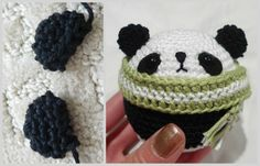 Panda christmas ornaments!!! :D So cute. I need to learn how to crochet so I can make stuff like this!
