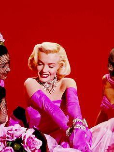 "Marilyn Monroe singing ""Diamonds Are A Girl's Best Friend"" from ""Gentlemen Prefer Blondes"""