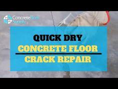 Quick Dry Concrete Floor Crack Repair Product - YouTube