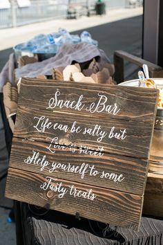 Snack bar at wedding