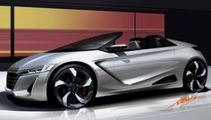 Honda S660 Concept Design Sketch #car #cardesign #designsketch #design #Honda #S660