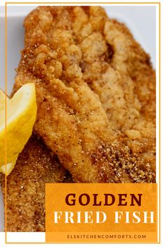 Golden Fried Fish Recipe Els Kitchen Comforts - Some Golden Fried Fish Just Like My Mom Makes The Best Thing About This Recipe Is That Its Really Simple A Little Salt And Pepper On The Fish And Then Its Dipped Right Into The Cornmeal Breaded Fish Recipe, Fried Catfish Recipes, Cod Fish Recipes, White Fish Recipes, Pan Fried Haddock Recipes, Fried Cod Recipes, Recipe For Fish Breading, Recipes, Bon Appetit