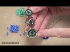 How to Do Circular Brick Stitch Bead Weaving ~ Seed Bead Tutorials - DIY Schmuck Seed Bead Tutorials, Jewelry Making Tutorials, Beading Tutorials, Video Tutorials, Seed Bead Jewelry, Beaded Jewelry, Beaded Bead, Seed Beads, Bead Earrings