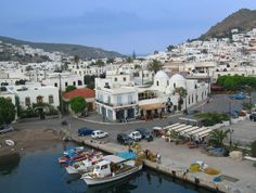 The Skala port of Patmos island, Dodecanese, Greece Vacation Places, Vacation Destinations, Vacation Spots, Vacations, Greece Cruise, Santorini Greece, Cool Places To Visit, Places To Go, Wonderful Places