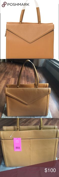 """Isaac Mizrahi Darcy Satchel Gorgeous butterscotch leather satchel bag from Isaac Mizrahi. This bag features dual handles, metal feet, magnetic disc and zip closure, 3 interior pockets, 1 front pocket, and 1 back pocket. 13.5"""" width x 11"""" height. Comes with dust bag. Isaac Mizrahi Bags Satchels"""