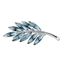 DONGZHOU Artifical Crystal Brooch Pin Leaf Shaped Fashion Jewelry ** See this great product. (This is an affiliate link) #WomensJewelry