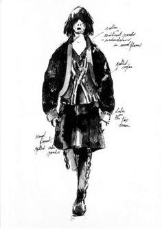 yohji yamamoto sketches - Google Search