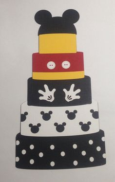Mickey Diecut Cake Crop paper scissors and more.