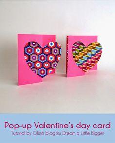 Ohoh Blog : Pop-up Valentine's day card