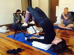53 iyengar yoga chair inversions ideas  iyengar yoga