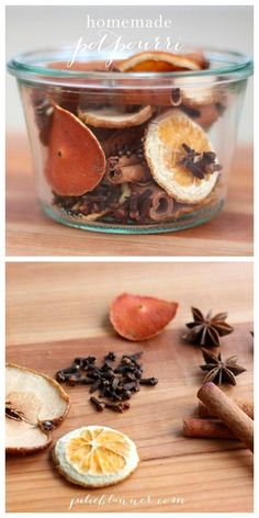 This easy DIY homemade potpurri gift is an excellent idea for a fall present. It looks festive, and when you toss the ingredients on the stove, they'll fill your house with a fall aroma.