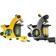 2-Custom-ZTO-Gold-Liner-Black-Shader-Tattoo-gun-Machines-Green-10-Wrap-Coils