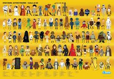 Star Wars characters by Christopher Lee