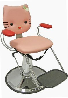 Pink Kitty Cat Kids Hair Styling Chair For Childrens Hair Salons and Party Spa Chairs For Kids