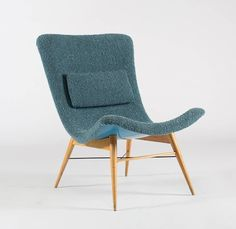 Lounge Chairs by Miroslav Navratil | From a unique collection of antique and modern lounge chairs at https://www.1stdibs.com/furniture/seating/lounge-chairs/