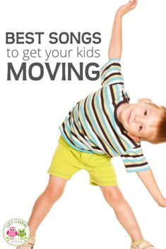 Here is a list of fun preschool movement songs. Try out a few of these action songs to get your preschoolers moving and grooving. Youtube Preschool Songs, Movement Songs For Preschool, Preschool Activities At Home, Circle Time Activities, Preschool Music, Movement Activities, English Activities, Kids Songs With Actions, Action Songs