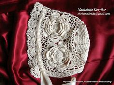 Pineapple Crochet Christening Gown | Christening set dress, bonnet, for baby girl.Size 06- 12 Months. Brand ...