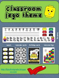 Create a lego themed classroom with this set. Packet includes over 30 pages of printables you can use for this theme throughout your classroom. Products include:welcome post cardschedule cardstagsbirthday cardsnumber cardsdesk tagshook tagswelcome signmorning routine sign