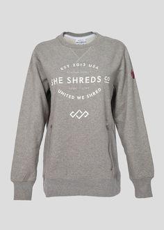 Crew Sweatshirt With Zippered Pockets