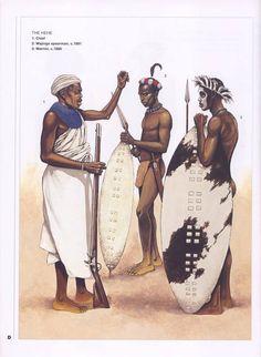 The Hehe. 1:Chief.2:Wajinga spearman,c.1891.3:Warrior,c.1880.