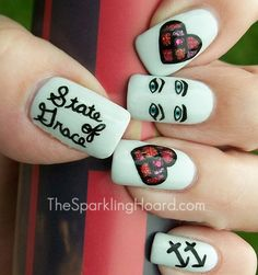 The Sparkling D Nail Art Mosaic Stained Gl Tutorial Inspired By Taylor
