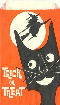 Vintage Halloween Candy Bag